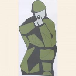 Cible tireur à Genou format 50cmx25 papier vendues x5 unités