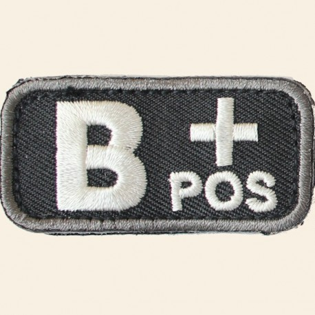 Patches Mil-Spec Monkey Blood Types B+ Positif Swat 5cm x 2,5cm