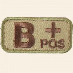 Patch Mil-Spec Monkey Blood Types B+ Positif Multicam 5cm x 2,5cm