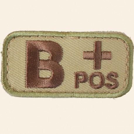 Patches Mil-Spec Monkey Blood Types B+ Positif Multicam 5cm x 2,5cm