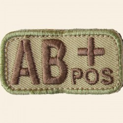 Patch Mil-Spec Monkey Blood Types AB+ Positif Multicam 5cm x 2,5cm