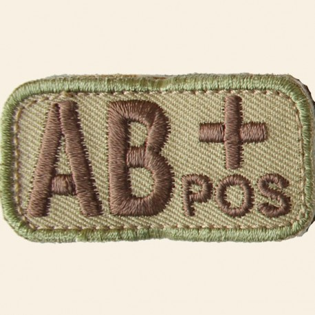Patches Mil-Spec Monkey Blood Types AB+ Positif Multicam 5cm x 2,5cm