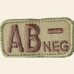 Patch Mil-Spec Monkey Blood Types AB- Négatif Multicam 5cm x 2,5cm