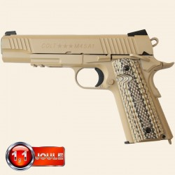 Colt 1911 M45A1 Rail Gun Series, Tan, Blowback (Culasse Mobile), Full Métal