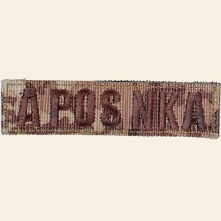 Patch Groupe Sanguin A POS NKA Camouflage