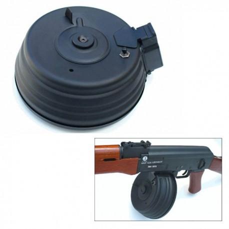 Chargeur AK47 Cybergun camembert noir électrique 2500 billes