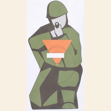 Cible tireur à Genou avec triangle format 95x45 papier vendue à l'unité