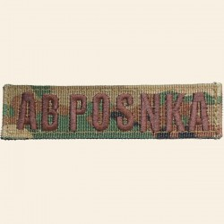 Patch Groupe Sanguin AB POS NKA Camouflage Woodland