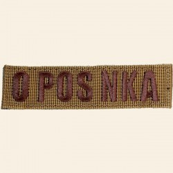 Patch Groupe Sanguin O POS NKA Sable