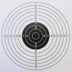 Cible Tir forain fond blanc format 14x14 carton (x50 unités)