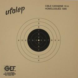 Cible Carabine 10 mètres UFOLEP format 10x10 carton (x10 unités)
