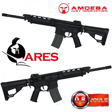 Ares M4 AA Assault Rifle Short Long Black Amoeba