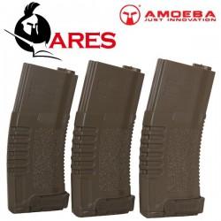 Lot de 3 Chargeurs Ares Tan 140 Billes Amoeba pour Séries M4, M15, M16