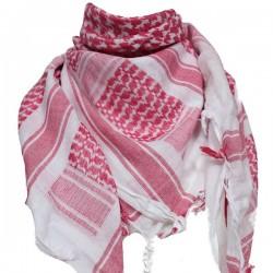 Shemag Echarpe Blanc Rouge