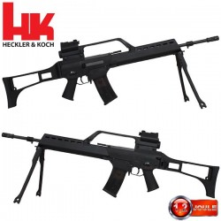 G36 Heckler & Koch Blowback, équipé Lunette, Red Dot, lampe et Bipied