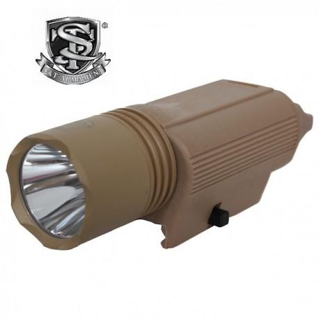 Lampe Tactique Led M3 Q5 Tan S&T Fixation Rapide