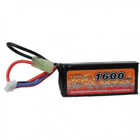 Batterie LiPo VBPower 1 Stick 11,1v, 20C 1600maH ANPEQ