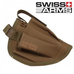 Holster de Ceinture Tan Swiss Arms Equipé Porte Chargeur