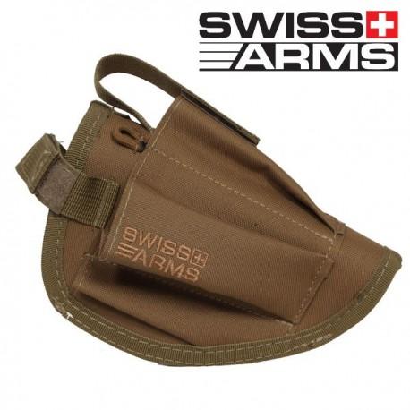 Holster de Ceinture Tan Swiis Arms Equipé Porte Chargeur