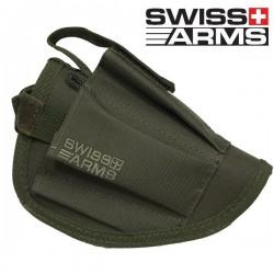 Holster de Ceinture Olive Swiss Arms Equipé Porte Chargeur
