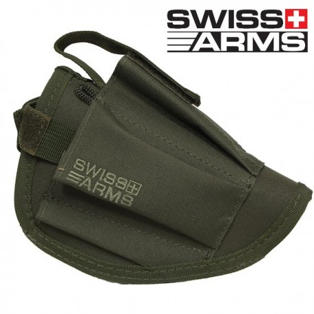 Holster de Ceinture Olive Swiis Arms Equipé Porte Chargeur