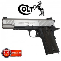 Colt 1911 A1 Rail Gun Series Bicolore, Blowback (Culasse Mobile), Full Métal