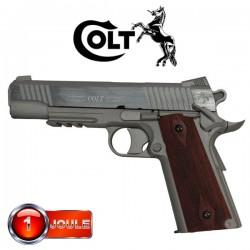 Colt 1911 Rail Gun Series Stainless Culasse Métal