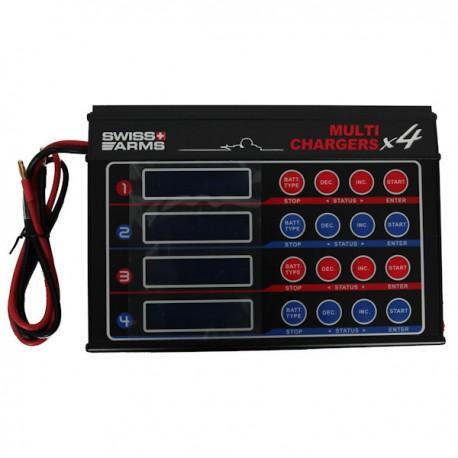Chargeur Déchargeur de Batterie Swiss Arms Multifonctions 4 Ecrans de Charge