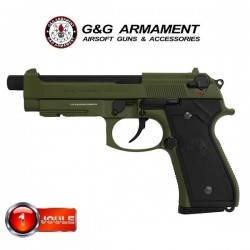 Pistolet GPM92 Hunter Green Black Type G&G Blowback Full Métal Livré en Mallette
