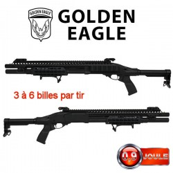Fusil à Pompe GR 870 Keymod Multi-Shot à Gaz Golden Eagle Full Métal