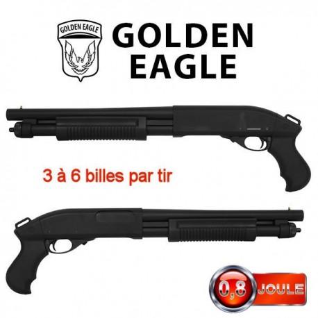 Fusil à Pompe GR 870 Court Multi-Shot à Gaz Golden Eagle Full Métal