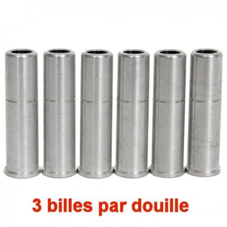 6 Douilles Tri-Shot Aluminium pour Modèles Dan Wesson