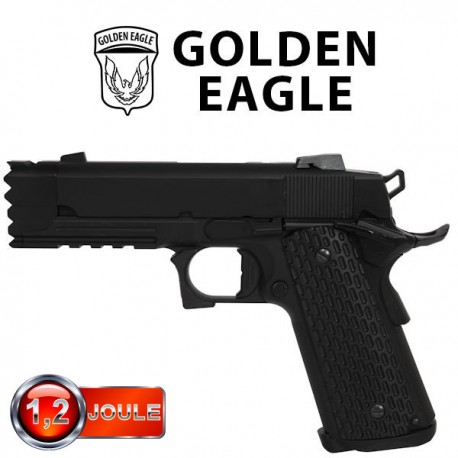 Pistol Gun Night Blowback Full Métal Golden Eagle