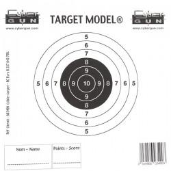 Cible papier x50 unités pour cibles filet avec récupérateur