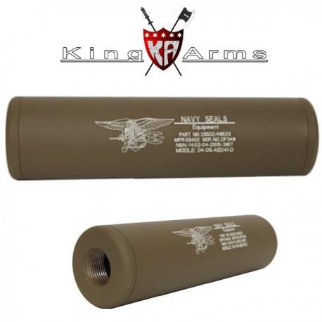 Extension de canon Externe Universel Navy Seals King Arms Tan