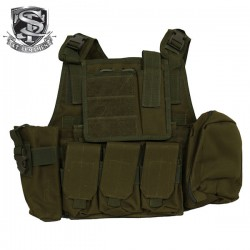 Veste Tactical Type Ciras Combat Court OD Multi-Poches S&T