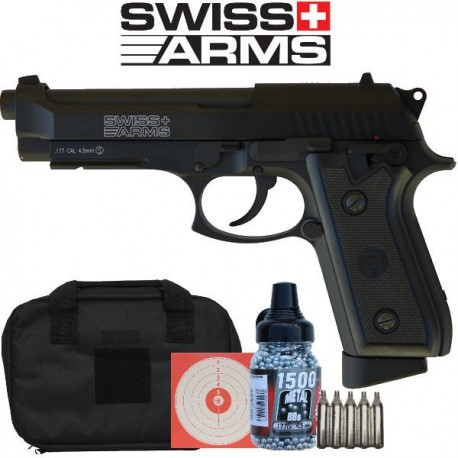 P92 co2 Swiss Arms Full Métal,  Blow Back, 4,5mm