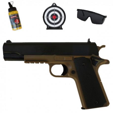 Colt 1911 Lourd Noir et Tan