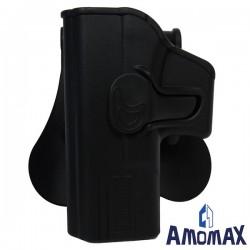Holster de Ceinture pour Gaucher Rotatif 360° Amomax pour Glock 19/23/32