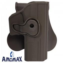 Holster de Ceinture Rotatif 360° FDE Amomax pour Glock