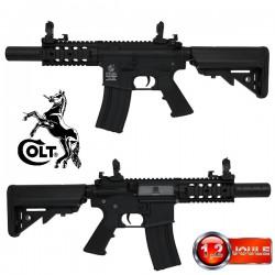 Colt M4 Special Forces Noir Full Métal Mini Equipé Silencieux