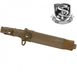 Baïonnette Factice M10 Dummy Knife Tan avec Etui