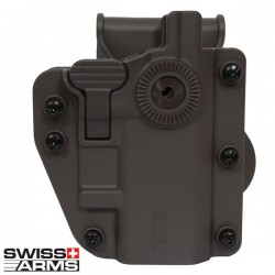 Holster Rigide Tan Multi Angles Universel Ambidextre Swiss Arms Adapt-X
