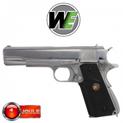 1911 MEU Grip Chrome WE Full Métal Blowback