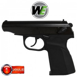 MA001 Black WE Full Métal Blowback Equipé Silencieux