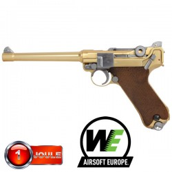 "P08 4"" Gold WE Full Métal Blowback"
