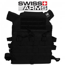 Porte Plaque Black Swiss Arms