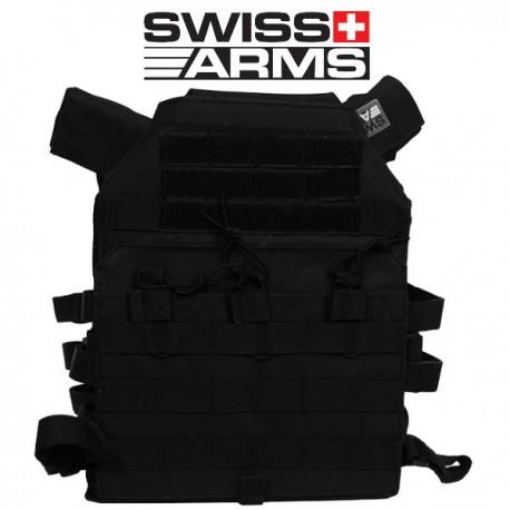 Porte Plaque Black Swiss Arms