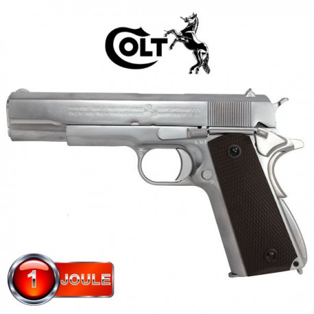 Colt 1911 A1 Silver Full Métal Blowback