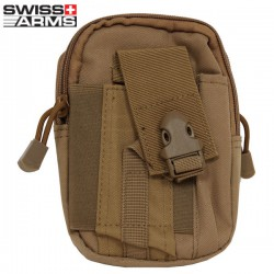 Pochette Tactique Attache Molle Tan Swiss Arms